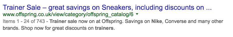 未优化的标题标记示例