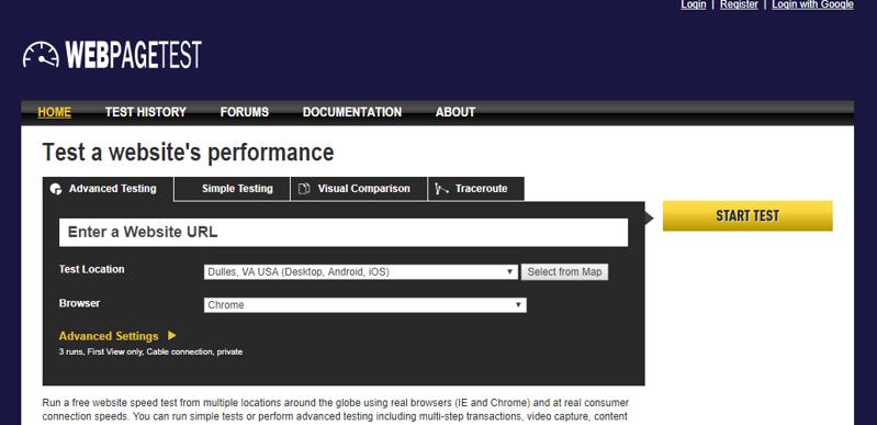 技术搜索引擎优化工具 -  WebPageTest.org