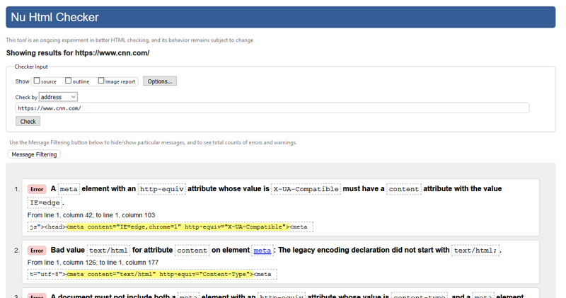 技术搜索引擎优化工具 -  W3C验证器