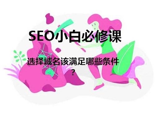 域名选择要满足这些条件,东莞seo在线学